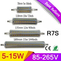 Wholesale Dimmable LED R7S Light Bulb W W W W Equivalent To W Double Ended Halogen Tungsten j type thermocouple R7s LED