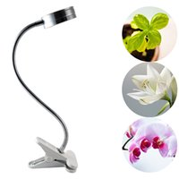 Wholesale 2016 newest LED Grow Light W LED Clip Desk Lamp Clamp Flexible Neck Degree For Hydroponic Garden w
