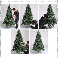Wholesale 2016News90cm Plastic Artificial Christmas Trees High Quality Decoration Home Prty Ornaments Supply Table Garland Tree New Year Product