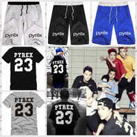 baseball pants loose - 2016 Unisex PYREX Gym Shorts Shirts Baseball Pants Hip Hop Shorts Beach Shorts Kanye West Jay z R b Chris Style Mens Womens Clothing