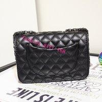 Wholesale high quality classic style women lady leather Lattice single shoulder bag channelled shoulder bag messenger Bag