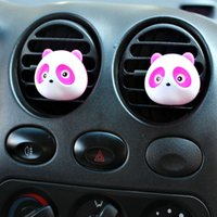Wholesale 2Pair The car outlet perfume Panda panda eyes will jump outlet perfume A pair four color optional