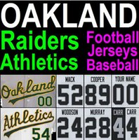 authentic american jersey - New Arrival Stitched American Football Baseball Jersey Khalil Mack Oakland Athletics Raiders Jersey Derek Carr Cheap Authentic Sport Jerseys
