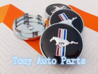 Wholesale 60mm Mustang Running Horse car emblem wheel center hub Dust proof badge covers Car styling Auto accessories