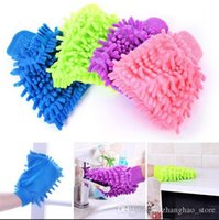 Wholesale 2pcs Microfiber Car Cloth Gloves Wash Vehicle Cleaning Exterior Styling Accessories