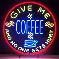 bars giving - coffee give me and no one gets neon sign real glass tube display beer bar handicraft signs light CLUB store gameroom