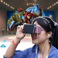 Wholesale 2016 VR Foldable D Glasses Virtual Reality Headset Portable VR Box Portable Handheld ABS Plastic for All Smart Phone Adjustable