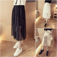 Wholesale In The New Spring and Summer Fashion Lace Chiffon Princess Tutu Skirt Gauze High Waist Skirt Trend