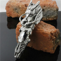 armor antiques - Best Quality Antique Color Claw Full Finger Knuckle Armor Gothic Dragon Biker Ring FOR NIGHT PARTY