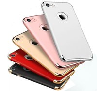 Wholesale 3 in Luxury Fashion Plating Hard Case For iphone Plus s s SE Case Slim Armor PC Hybrid Back Cover