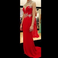 art rubies - Hot Sale New Halter Ruby Gorgeous Prom Dresses Long Red Sleeveless Floor Length Backless Evening Prom Gowns