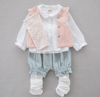 baby value - Value Autumn Kids Clothes Girls Baby Set Girls Cotton Shirt Waistcoat Shorts Socks Outfits Kids Clothes K8115