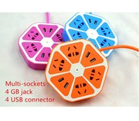 Wholesale Creative Fruit Power Strip Board Smart Colorful Lemon Style Sockets Plus USB Charge Port For Home Office