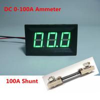 amp meter shunt - Green Led Display Digital Ammeter DC A Current Ampere Amp Meter Power Supply DC V with A mV Shunt Resistor