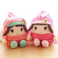 Wholesale 29 cm New Style Girl Plush Backpacks boy stuffed plush schoolbag For Kids Shoulders Bag Baby