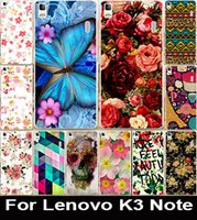 beautiful mobile phones - Printed Beautiful Rose Flower Painted PC Cover Case For Lenovo K3 Note quot Mobile Phone Case Cover Shell Capa Lenovo A7000