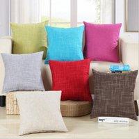 arts crafts textiles - Retro Solid Pillowcase Simple Plain Cushion Cover Home Decoration Products Textiles Arts Crafts Sofa Car Spin Red Pillow Case