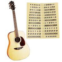 Wholesale Leaner Bass Guitar Fretboard Sticker Frets Note Decal Beginners Learning Music Lesson