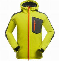 Wholesale outdoor sport spring camping climbing hiking jackets softshell Fleece breathable coat for men