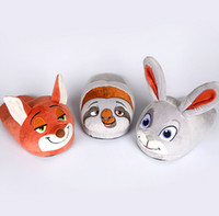 Wholesale Zootopia Plush Slipper Plush Stuffed Unisex Slippers Cartoon Winter Home Indoor Shoes Slipper Soft Warm Winter Slippers KKA381