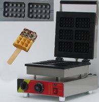 Wholesale 110V V electric stainless steel slices rectangle waffle baker commercial waffle maker