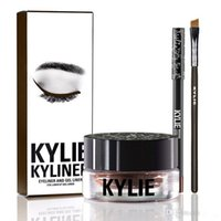 Wholesale BRAND NEW Kylie Cosmetics By Kylie Jenner Kyliner In Black Brown with Eyeliner Gel pot Brush