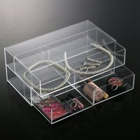 acrylic vanity table - 2016 New Anti Scratch Clear Makeup Cosmetic Storage Jewelry Display Box Drawers Acrylic Case Holder Lipstick Makeup Vanity Table Tool Kit