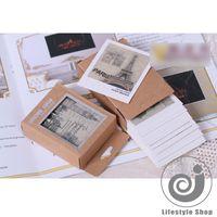 Cheap 40 pcs box vintage europe landscape mini message card birthday greeting card christmas cards kawaii stationery