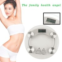bathroom scales sale - New Sale cm Round Digital LCD Tempered Glass Body Scale Bathroom Losing Weight Digital Electronic Body Weighing Scale
