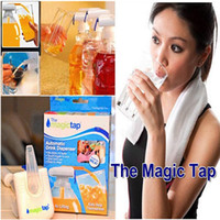 Wholesale New hot Magic tap Drinking straw electric automatic drink dispenser for water fruit juice coke milk tools kids adullt