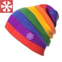 Wholesale Outdoor Hat Ski Cap Ski Cap Rainbow Hat Beanies