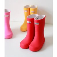 Wholesale Hunter Rubber Boots For Kids Colors Pink Red Yellow EURO