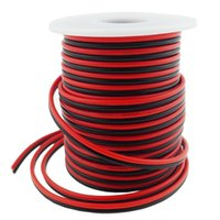 Wholesale 40FT Gauge Single Color LED Strip Extension Cable AWG pin Color Red Black Stand Wire Conductor for LED Ribbon Lamp Tape Lighting