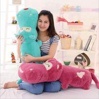Cheap New Hot Cute Hippopotamus Plush Toy Hippo Doll Sleeping Pillow Soft Stuffed Animal Kids Toy Birthday Gift For Children
