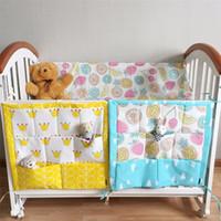 baby cribs accessories - Baby Cot Bed Hanging Storage Bag Baby Bedding Set Accessories Cotton Newborn Toy Diaper Pocket Crib Organizer Pocket for Crib