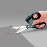 Wholesale Upgrade laser sewing scissors not cut crooked light guidelines scissors for needlework sewing supplies