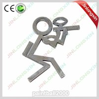 Wholesale 2 Chrome Paintball Sticker Badge Decorative Paintball Badges