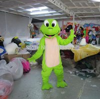 Wholesale Hot Sale New Green Frog Mascot costume Adult Size Free S H Cartoon Costumes Mascot Fancy Dress