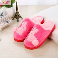 Wholesale 2016 new cotton slippers in winter indoor cartoon of rabbit Slippers to keep warm slippers couples antiskid slippers