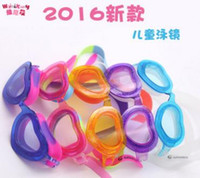 Wholesale Kids Professional Heart Style Swimming Goggles Anti Fog Uv Protection Plating Children Swimming Eyewear Best Swim Water Glasses