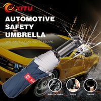 Wholesale Automotive Safety Umbrella with Seat Belt Cutter Emergency Hammer Reflective Warning Automatic Open Close Umbrella AS001