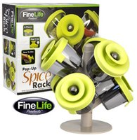 Wholesale FineLife Pop Up Spice Rack Rotary Seasoning Pots pieces of pop Rack Up Spice of the Original Sauce Pot AA