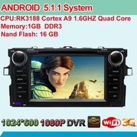 africa toyota - 16G ROM G RAM Quad Core Android Car DVD For Toyota Corolla Auris GPS Radio Stereo WIFI G OBD DVR Bluetooth HD Screen RDS