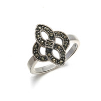 antique marcasite jewelry - Art Deco Victorian Style Antique Silver Ring with Marcasite Iron Stone Costume Jewelry RS03055