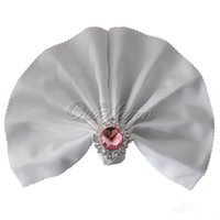 Wholesale White quot Square Solid Napkin Diner Handkerchief Hanky Wedding High Quanlity New Hot Very Popular