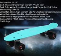 Wholesale inch fish skate board pastel color banana board mini cruiser long skateboard four wheel street longboard