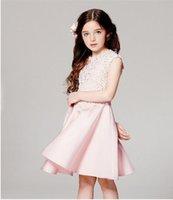 ball stamps - Children girl fashion lace princess dress fashion revenue stamp girl full dress YN52