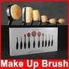 Wholesale 2016 hot set Tooth Brush Shape Oval Makeup Brush Set Professional Foundation Powder make up brushes Makeup Tool with retail box LOGO