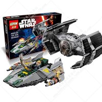 advance wars - STAR WARS Set Vader Tie Advanced VS A wing Starfighter The Force Awakens Building Bricks Block LEPIN