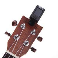 Wholesale JOYO Degree Rotatable Mini Digital LCD Clip on Tuner for Chromatic Guitar Bass Violin Ukulele MIA_231
